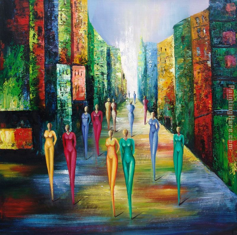 Colorful Night painting - 2010 Colorful Night art painting