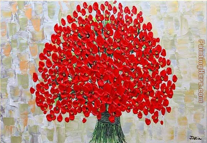 2010 RED POPPIES TEXTURED Art Painting