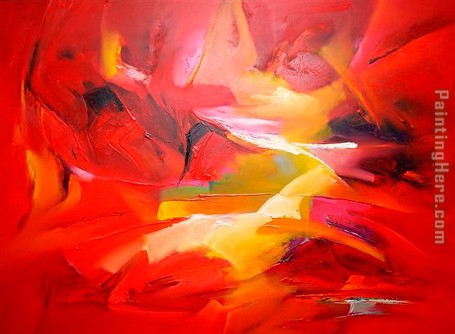 Sea Dream in Red V painting - 2010 Sea Dream in Red V art painting