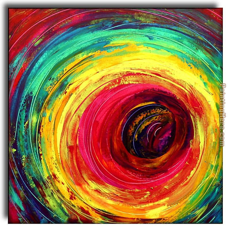 2010 Colorful Dance Circle Painting Anysize 50% Off