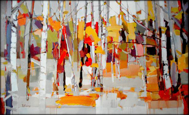 Fall Birches painting - 2011 Fall Birches art painting