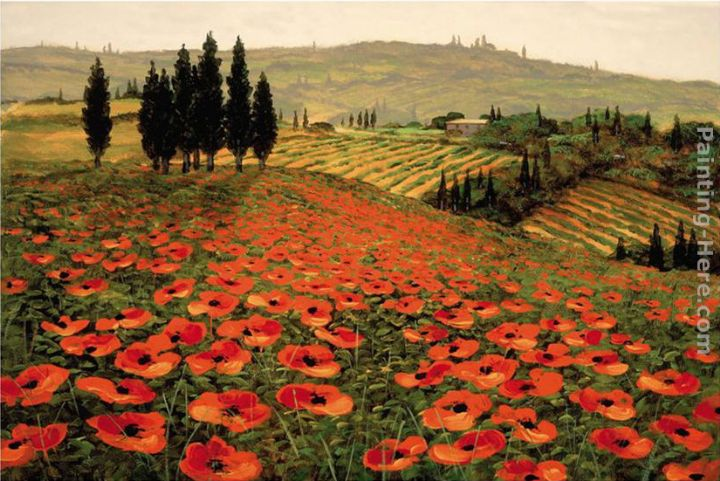 2011 Hills of Tuscany I Art Painting