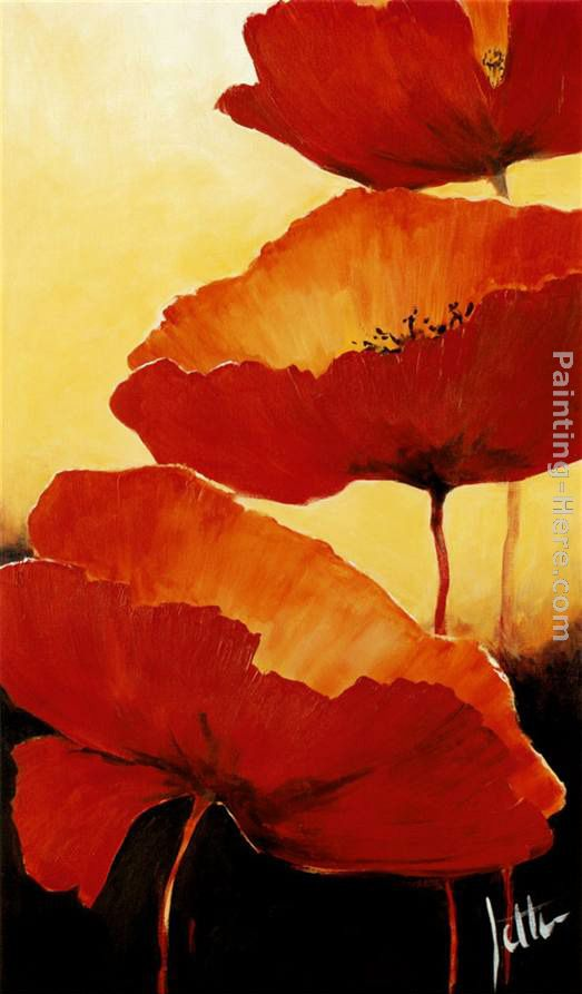 Three Red Poppies II painting - 2011 Three Red Poppies II art painting