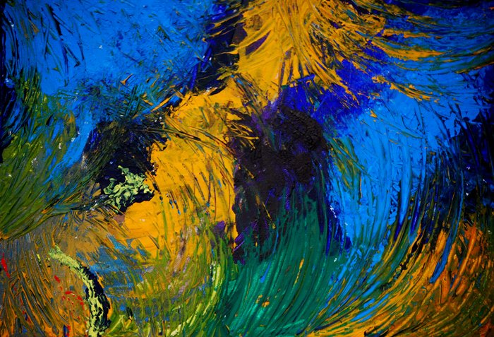 organic in blue and yellow painting - 2011 organic in blue and yellow art painting