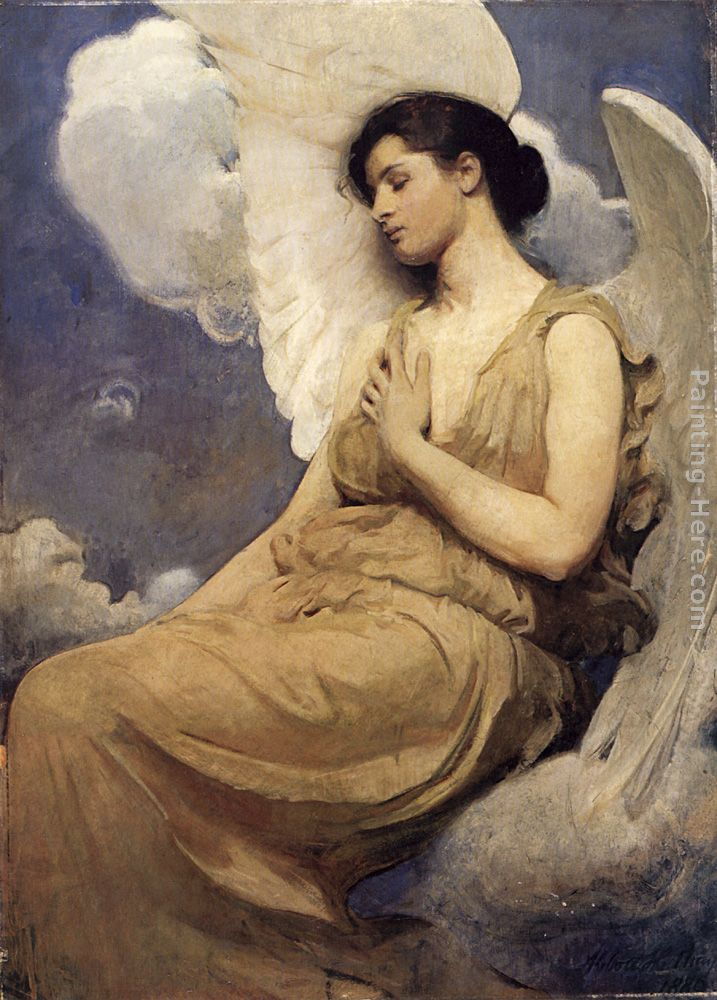 Winged Figure painting - Abbott Handerson Thayer Winged Figure art painting