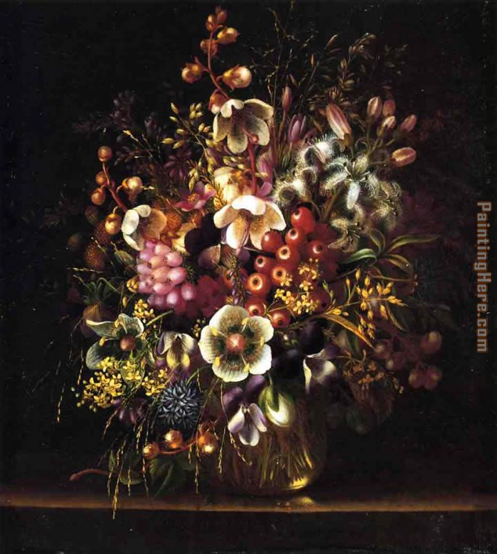 Adelheid Dietrich Still Life With Flowers In A Vase Painting Anysize