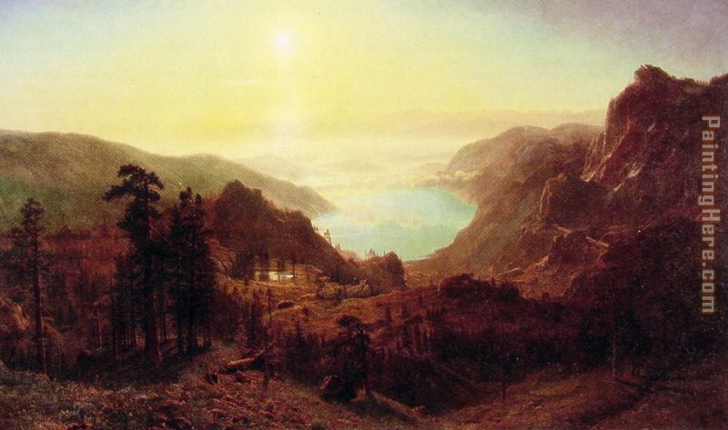 Donner Lake from the Summit painting - Albert Bierstadt Donner Lake from the Summit art painting