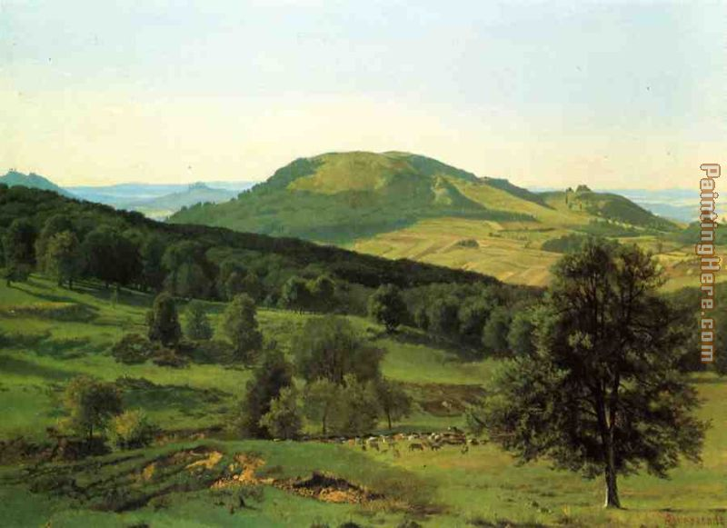 Hill and Dale painting - Albert Bierstadt Hill and Dale art painting