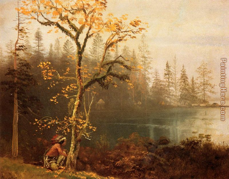 Indian Scout painting - Albert Bierstadt Indian Scout art painting