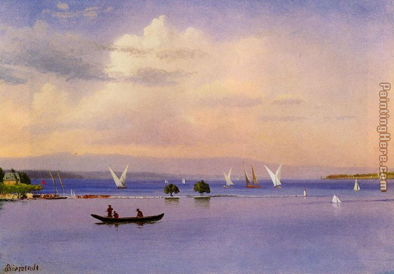 On the Lake painting - Albert Bierstadt On the Lake art painting