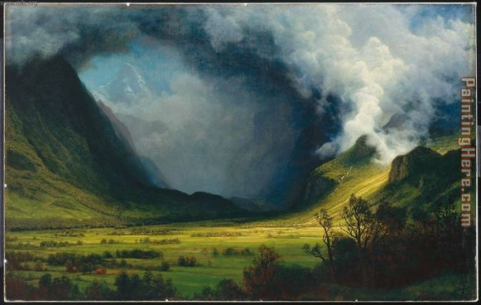 Storm In The Mountains painting - Albert Bierstadt Storm In The Mountains art painting