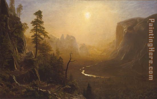 Yosemite Valley, Glacier Point Trail painting - Albert Bierstadt Yosemite Valley, Glacier Point Trail art painting