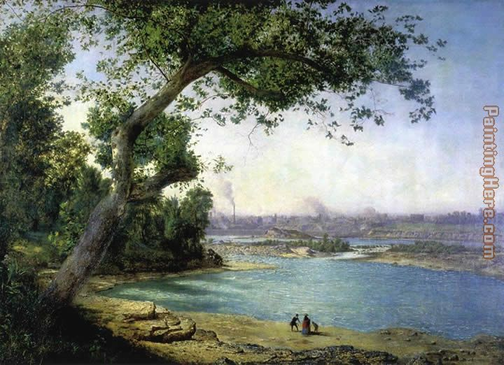 Alexander Helwig Wyant Falls Of The Ohio And Louisville Painting Anysize 50 Off Falls Of The