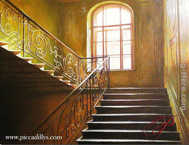 Alexei Butirskiy Stairs I Climb painting anysize 50% off ...