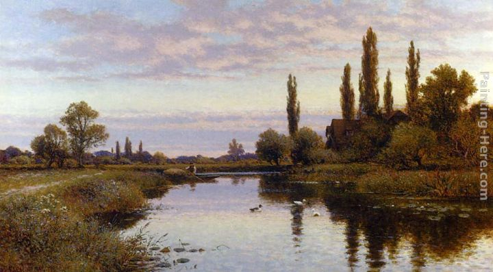 The Reed Cutter painting - Alfred Glendening The Reed Cutter art painting