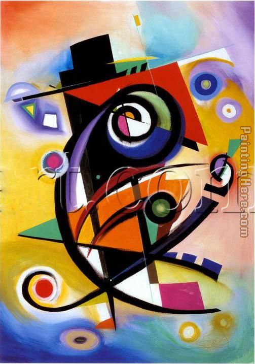 Alfred Gockel Homage to Kandinsky Art Painting