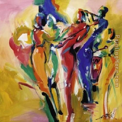 Alfred Gockel Jazz Explosion I Art Painting
