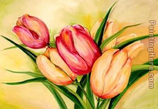Natural Beauty Tulips II painting - Alfred Gockel Natural Beauty Tulips II art painting