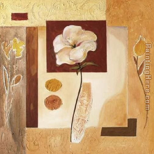 Alfred Gockel Rustic Flower Collage II Art Painting