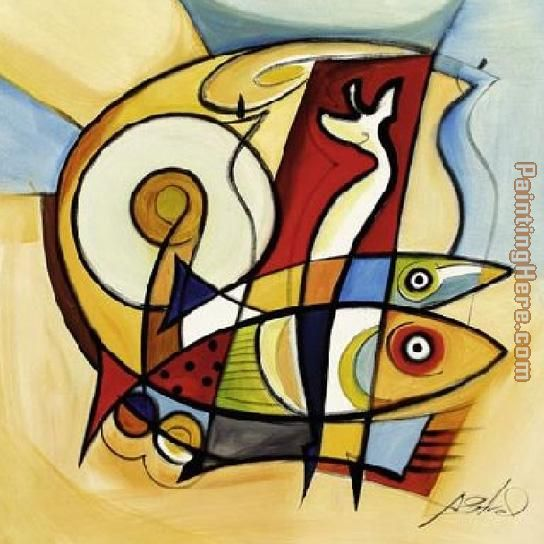 Sun Fish II painting - Alfred Gockel Sun Fish II art painting