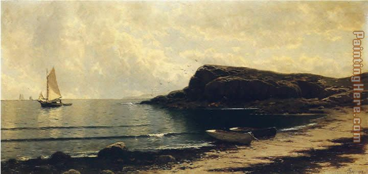 Along the Shore painting - Alfred Thompson Bricher Along the Shore art painting