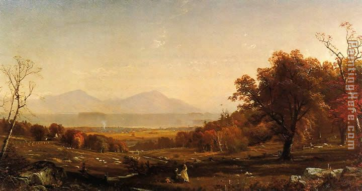 Lake George from Bolton painting - Alfred Thompson Bricher Lake George from Bolton art painting