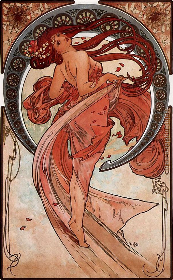 Dance painting - Alphonse Maria Mucha Dance art painting