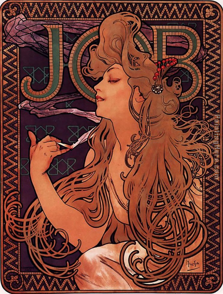 JOB painting - Alphonse Maria Mucha JOB art painting