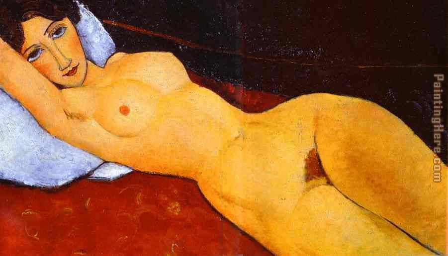 Reclining Nude painting - Amedeo Modigliani Reclining Nude art painting
