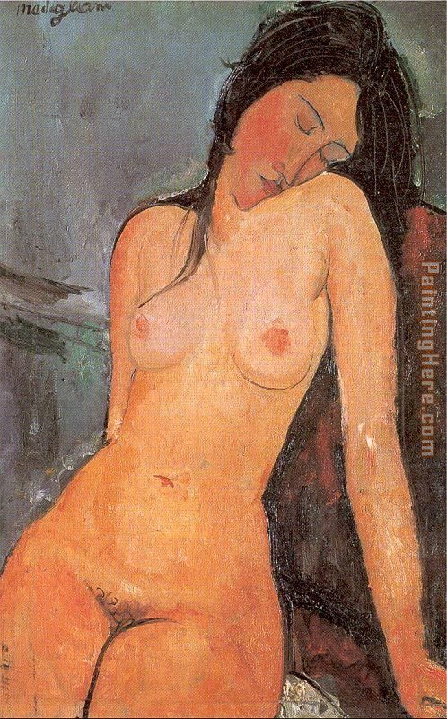 Seated Nude painting - Amedeo Modigliani Seated Nude art painting