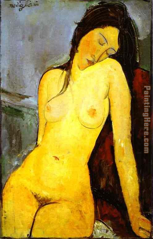 the Seated Nude painting - Amedeo Modigliani the Seated Nude art painting