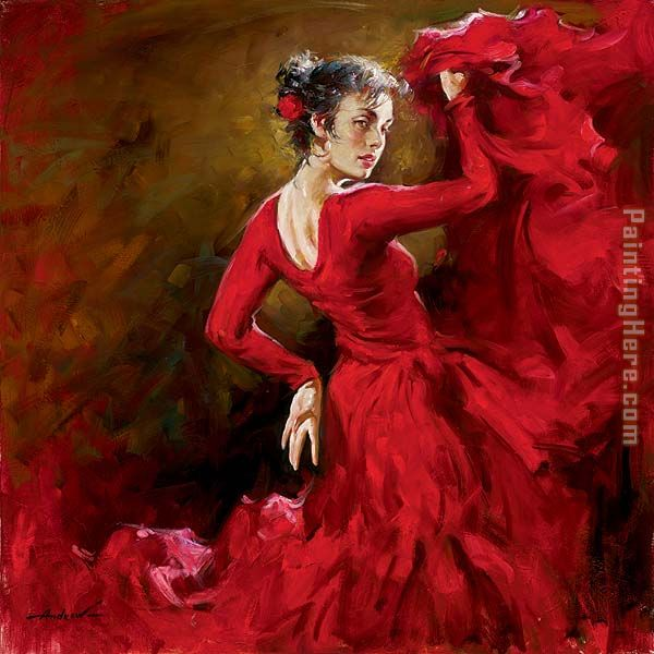 Crimson Dancer painting - Andrew Atroshenko Crimson Dancer art painting