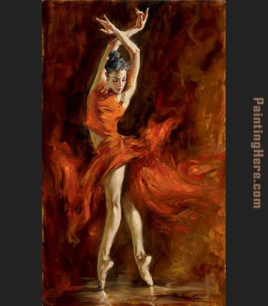 Fiery Dance painting - Andrew Atroshenko Fiery Dance art painting