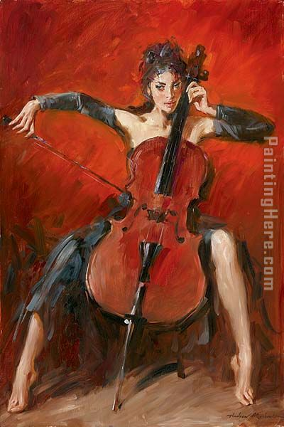 Red Symphony painting - Andrew Atroshenko Red Symphony art painting