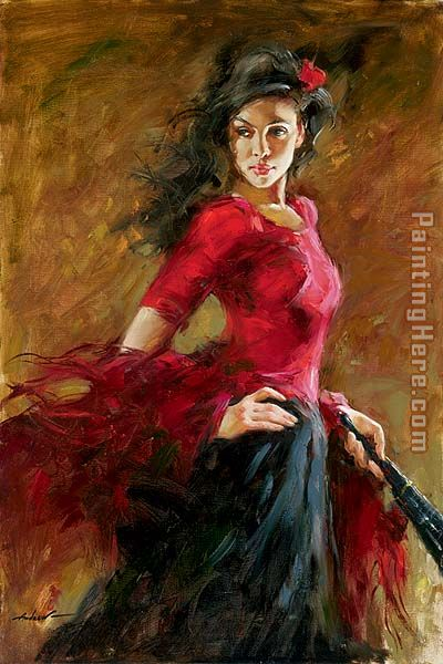 The Fan Dancer painting - Andrew Atroshenko The Fan Dancer art painting