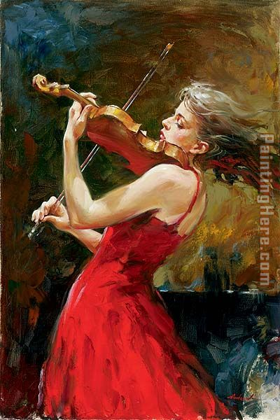 The Passion of Music painting - Andrew Atroshenko The Passion of Music art painting