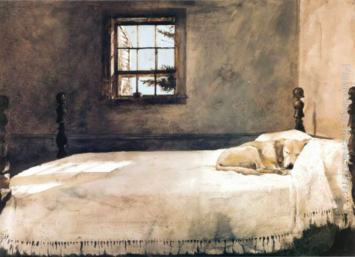Master Bedroom painting - Andrew Wyeth Master Bedroom art painting