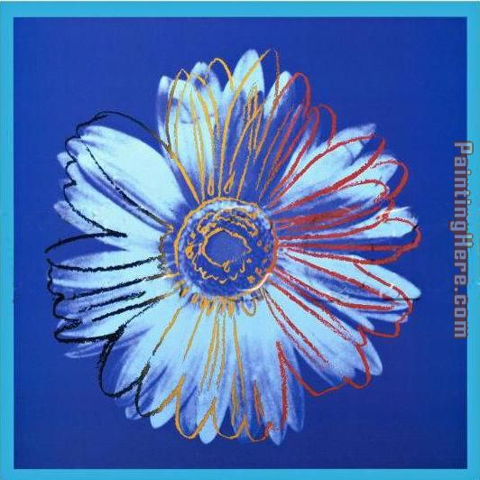 Daisy Blue on Blue painting - Andy Warhol Daisy Blue on Blue art painting