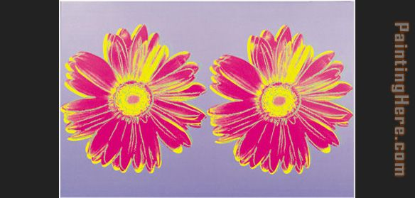 Daisy Double Pink painting - Andy Warhol Daisy Double Pink art painting