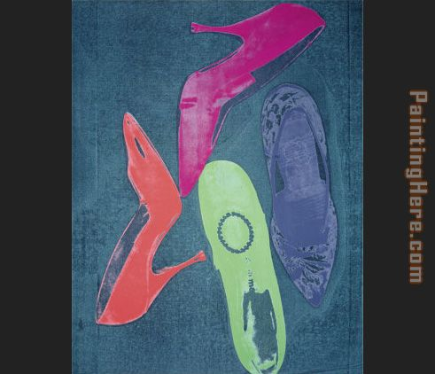 Diamond Dust Shoes four painting - Andy Warhol Diamond Dust Shoes four art painting