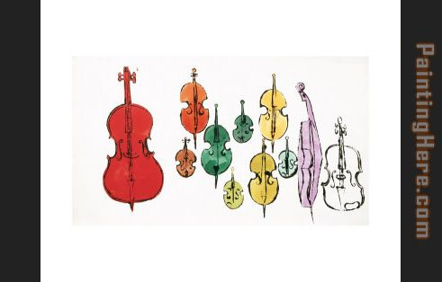Eleven String Instruments painting - Andy Warhol Eleven String Instruments art painting