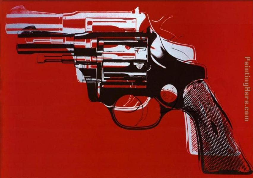 Guns painting - Andy Warhol Guns art painting