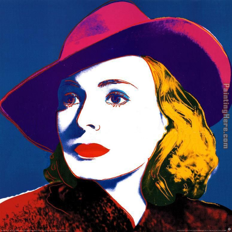 Andy Warhol Ingrid with Hat Art Painting