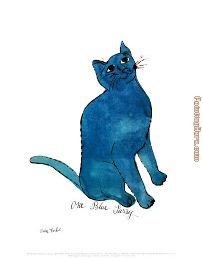 One Blue Pussy painting - Andy Warhol One Blue Pussy art painting