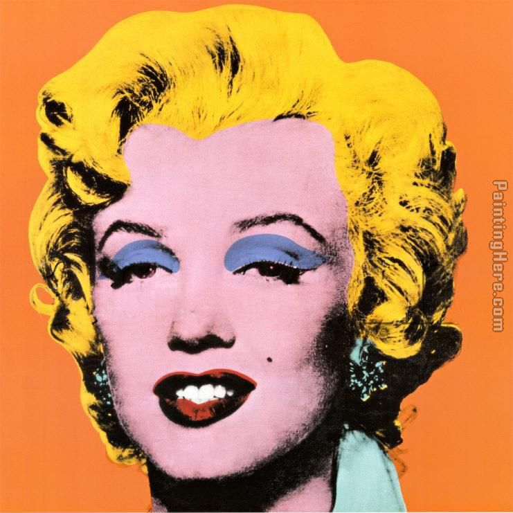Andy Warhol Shot Orange Marilyn 1964 Painting Anysize 50