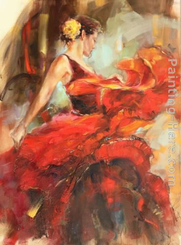 Inferno 1 painting - Anna Razumovskaya Inferno 1 art painting