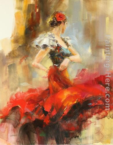 Rhapsody of Red 2 painting - Anna Razumovskaya Rhapsody of Red 2 art painting