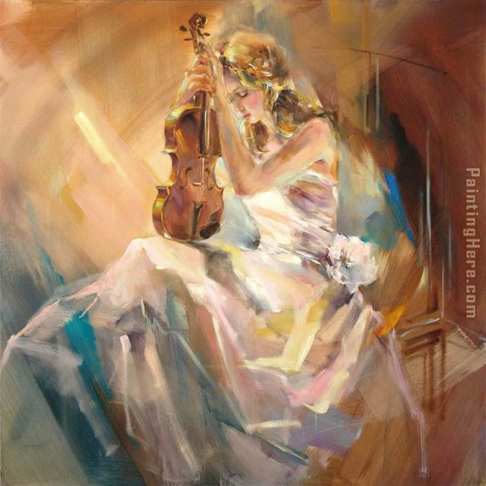 Romance with a Violin painting - Anna Razumovskaya Romance with a Violin art painting