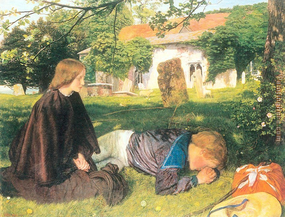Other Arthur Hughes paintingsOphelia Painting Arthur Hughes