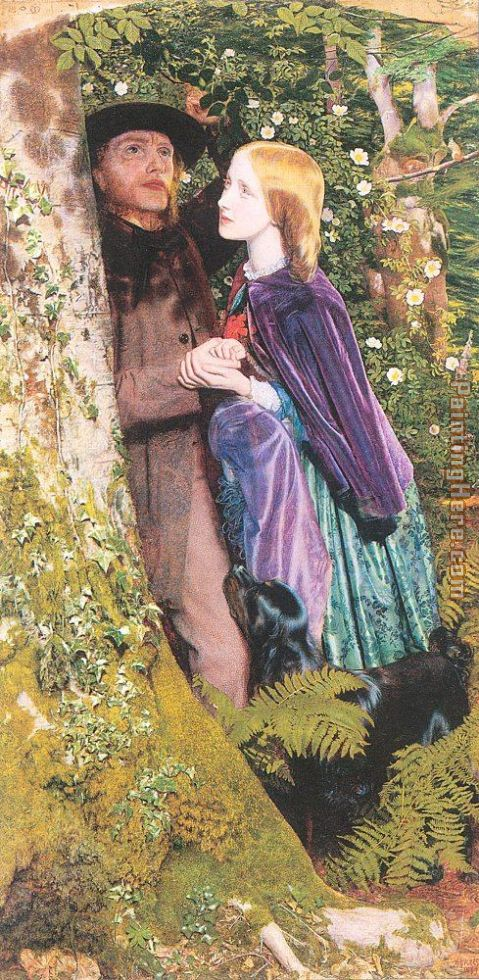 Arthur Hughes The Long Engagement Art Painting